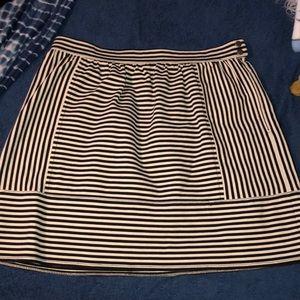 Madewell black stripe skirt 6